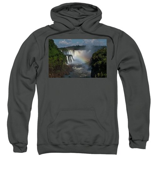 Iguazu Falls With A Rainbow Sweatshirt