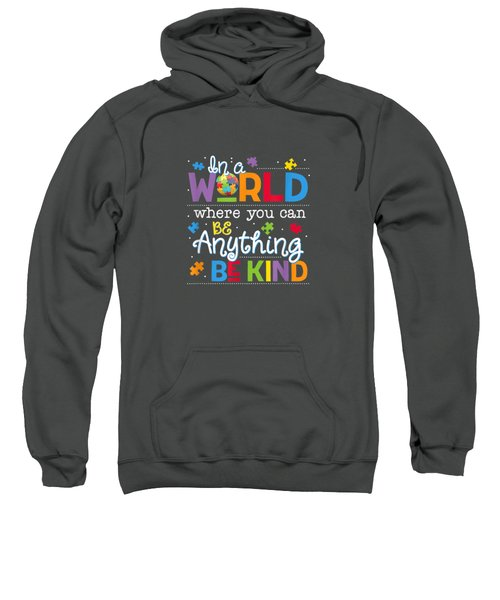 In A World Where You Can Be Anything Be Kind Autism T-shirt Sweatshirt