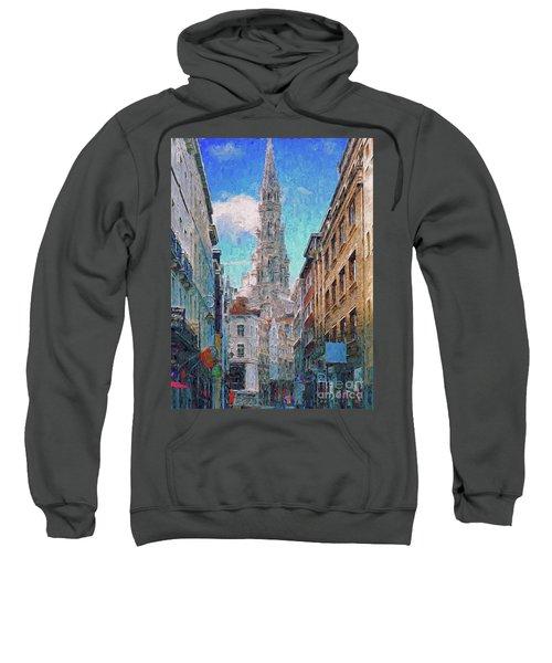 In-spired  Street Scene Brussels Sweatshirt