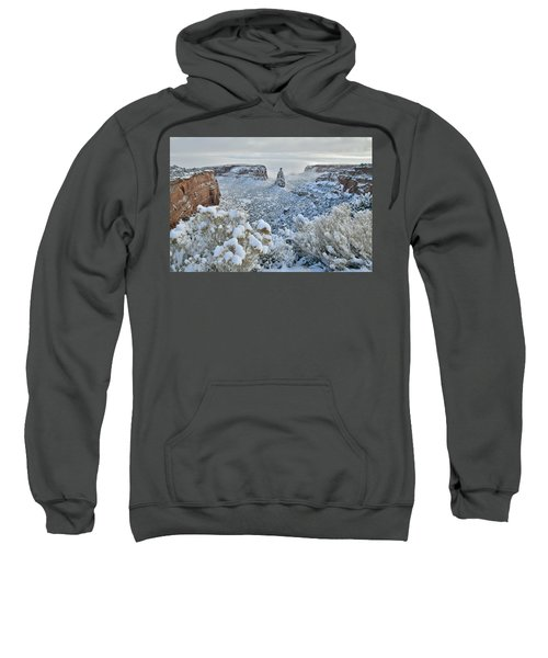 Independence Monument In Snow Sweatshirt