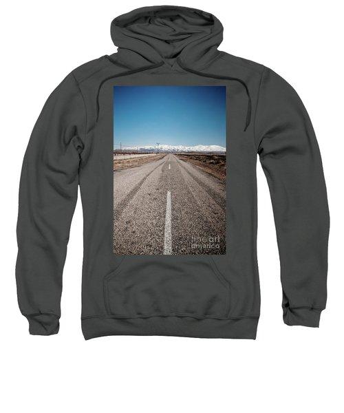 infinit road in Turkish landscapes Sweatshirt