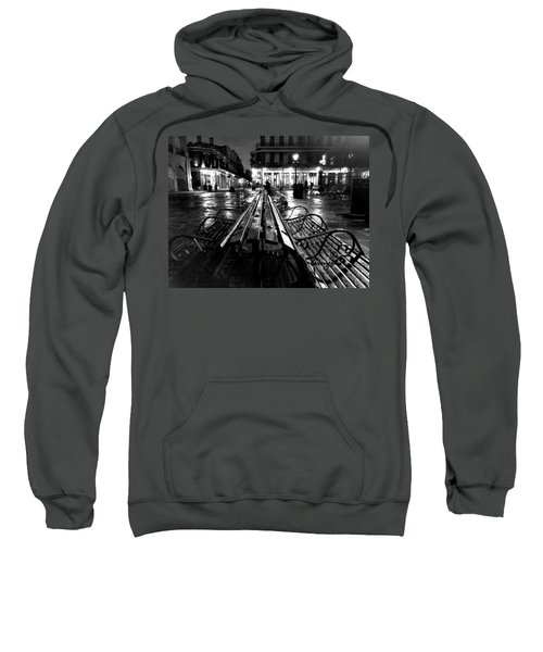 Jackson Square In The Rain Sweatshirt