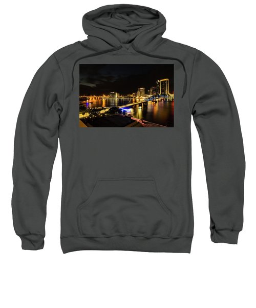 Jacksonville Skyline By Night Sweatshirt