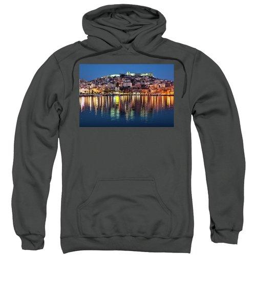 Kavala Town At Night Sweatshirt