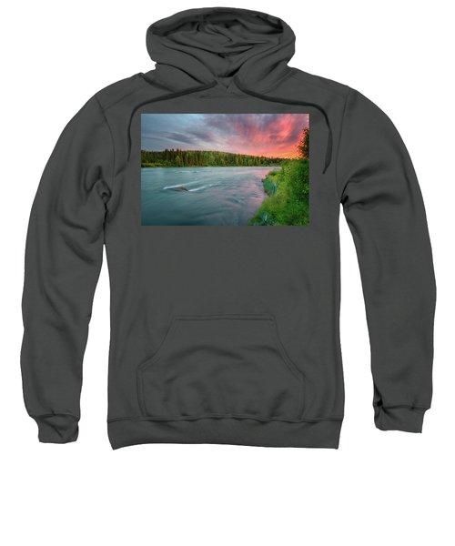 Kenai River Alaska Sunset Sweatshirt