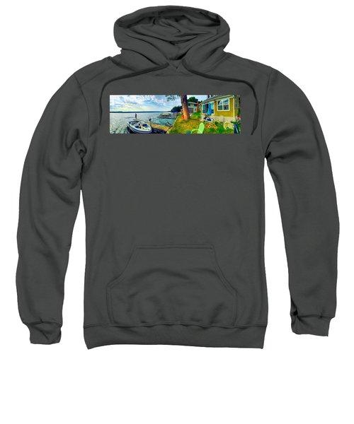 Keuka Lake Mornings Panorama Sweatshirt