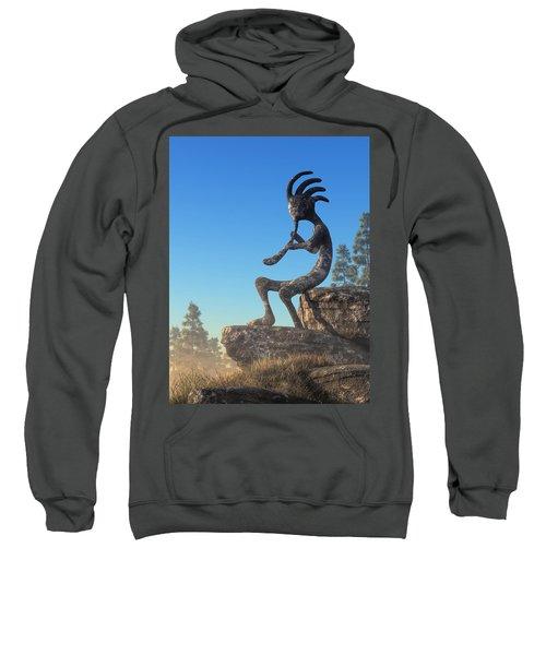 Kokopelli Statue Sweatshirt