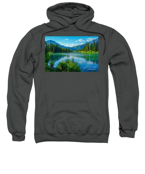 Lake At Banff Indian Trading Post Sweatshirt