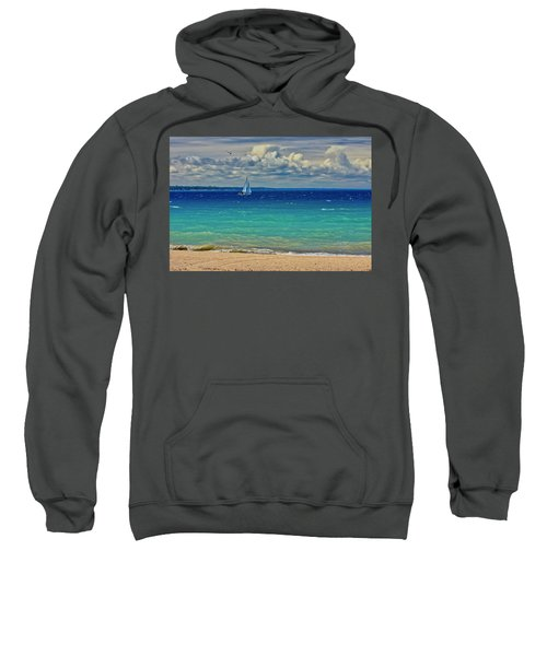 Lake Huron Sailboat Sweatshirt