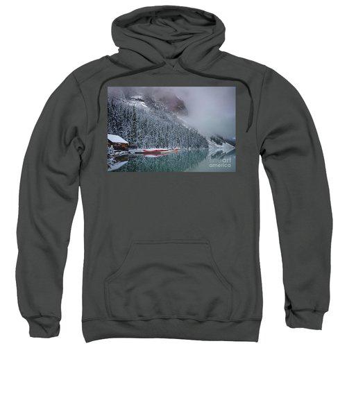 Lake Louise Boats In Winter Sweatshirt