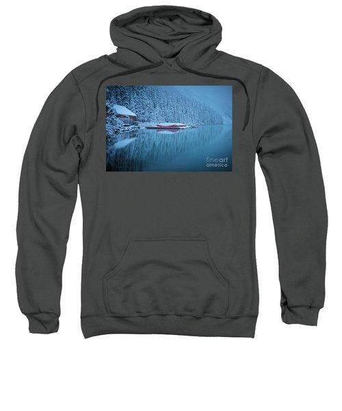 Lake Louise Misty Winter Morning Sweatshirt