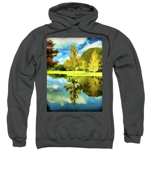 Lake Reflection - Faux Painted Sweatshirt