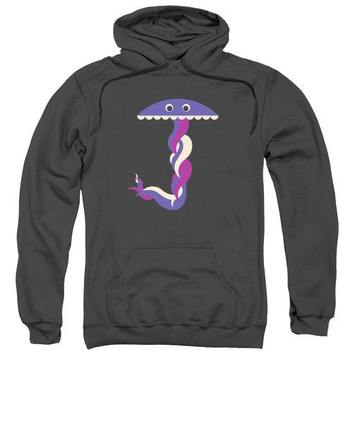 Letter J - Animal Alphabet - Jellyfish Monogram Sweatshirt