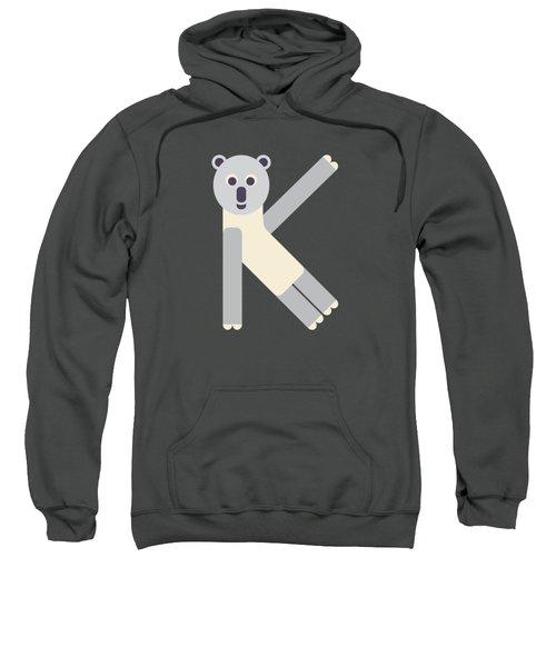 Letter K - Animal Alphabet - Koala Monogram Sweatshirt