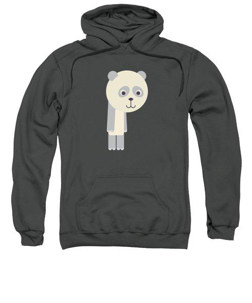 Letter P - Animal Alphabet - Panda Monogram Sweatshirt