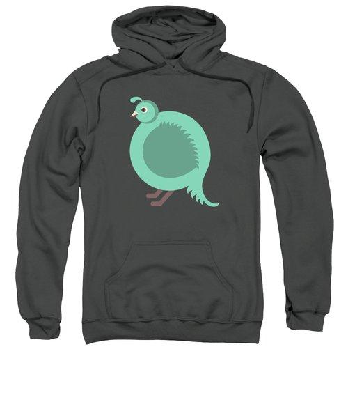 Letter Q - Animal Alphabet - Quail Monogram Sweatshirt