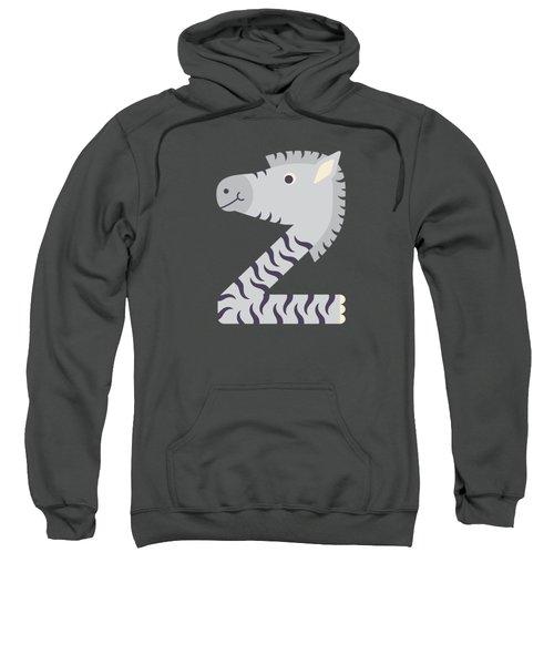 Letter Z - Animal Alphabet - Zebra Monogram Sweatshirt