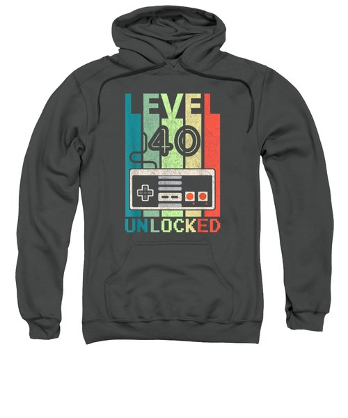 Level 40 Unlocked Shirt Video Gamer 40th Birthday Gifts Tee T-shirt Sweatshirt