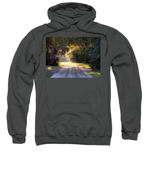 Light, Shadows And An Old Dirt Road Sweatshirt