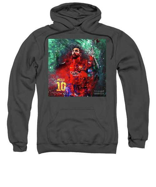Lionel Messi In Barcelona Kit Sweatshirt