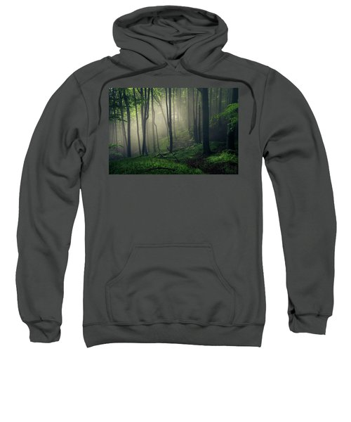 Sweatshirt featuring the photograph Living Forest by Evgeni Dinev