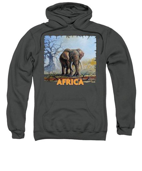 Lone Elephant Browsing Sweatshirt