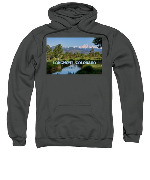 Sweatshirt featuring the photograph Longmont Colorado Twin Peaks View Poster by James BO Insogna
