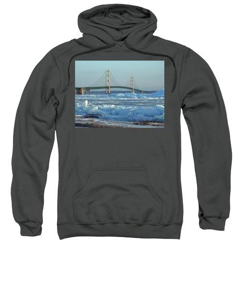 Mackinac Bridge In Ice 2161801 Sweatshirt