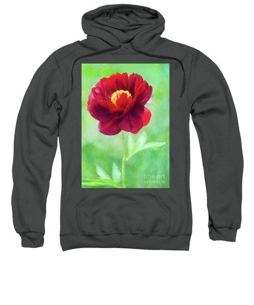Magnificent Crimson Peony Sweatshirt