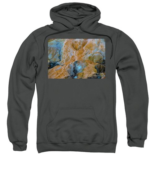 Sweatshirt featuring the photograph Mammoth Hot Springs by Mae Wertz