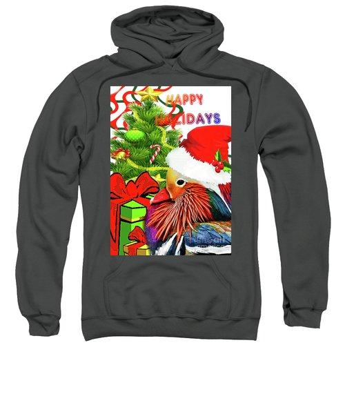 Mandy Mandarin Duck Holiday Greeting Sweatshirt