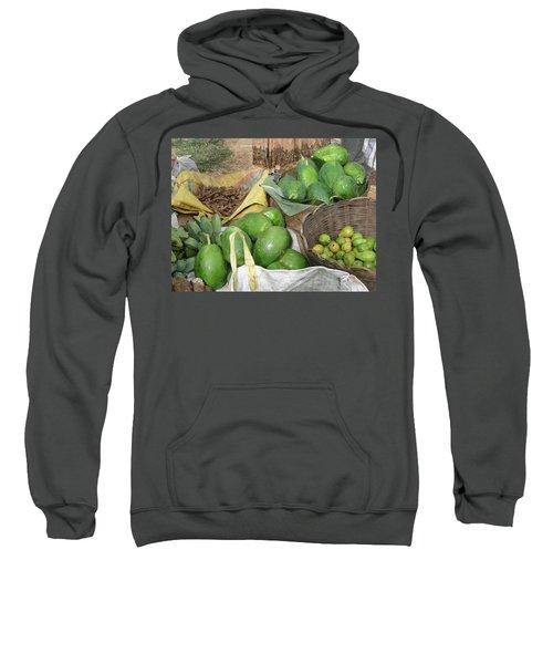Mangos, Turmeric And Green Bananas  Sweatshirt