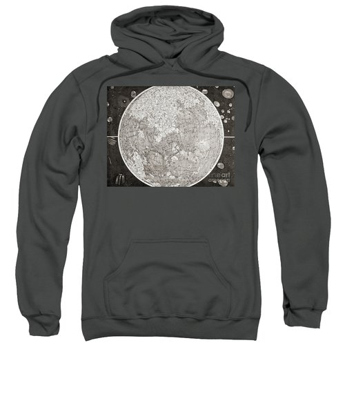 Map Of The Moon Produced In The 1830s Sweatshirt