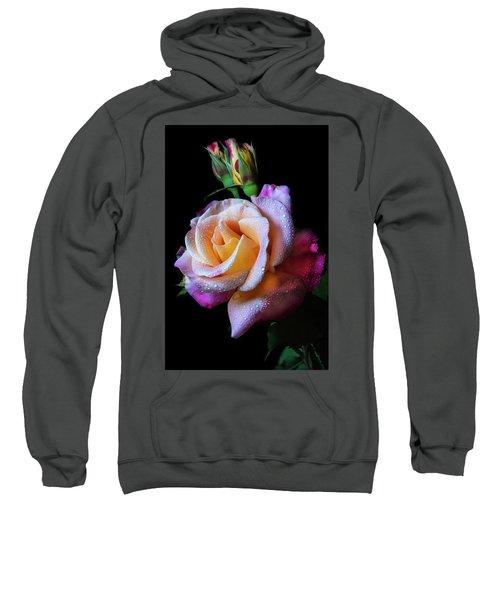 Mardi Gras Rose Portrait Sweatshirt