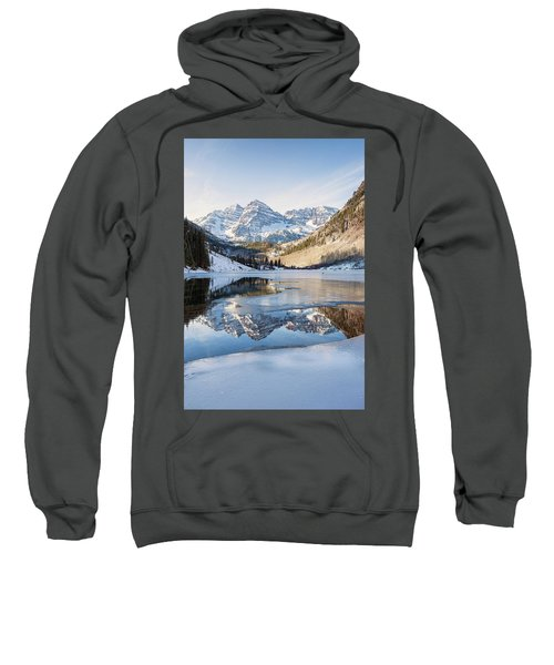 Maroon Bells Reflection Winter Sweatshirt