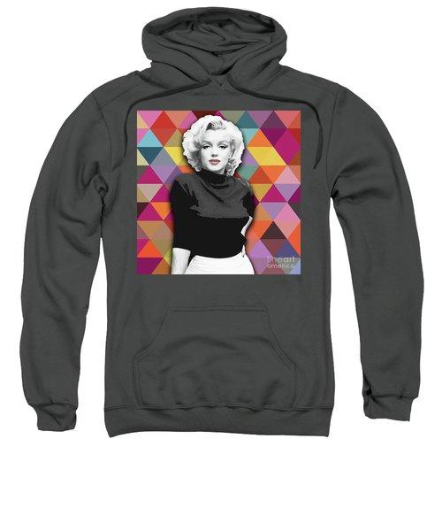 Sweatshirt featuring the painting Marylin Monroe Diamonds by Carla Bank