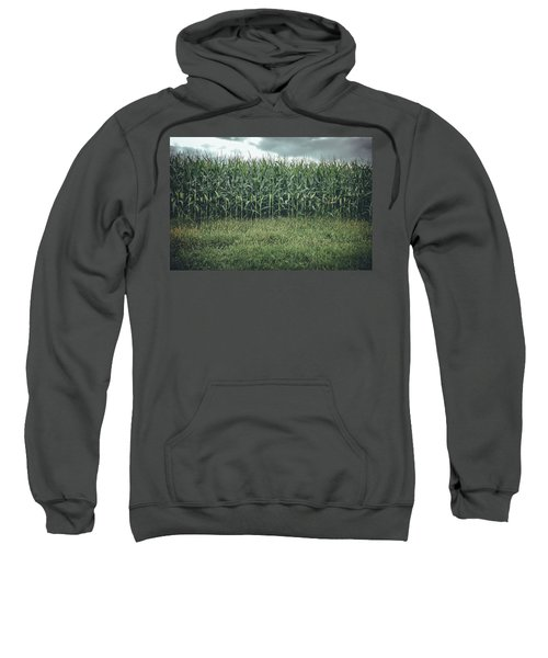 Sweatshirt featuring the photograph Maize Field by Steve Stanger