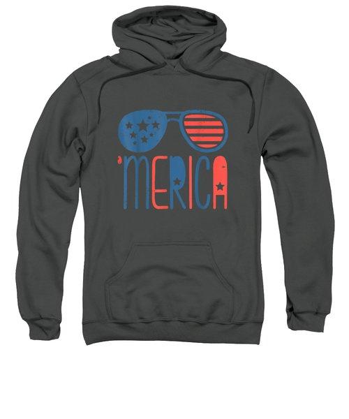 Merica American Flag Aviators Toddler Tshirt 4th July White Sweatshirt