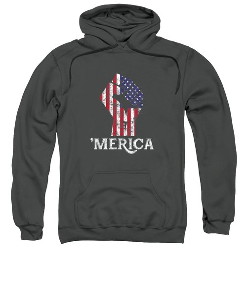 Merica American Flag Shirt- 4th July Independence Day Tshirt Sweatshirt