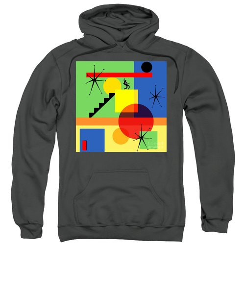 Mid Century Modern Abstract Jailhouse Rock 20190106 Square Sweatshirt
