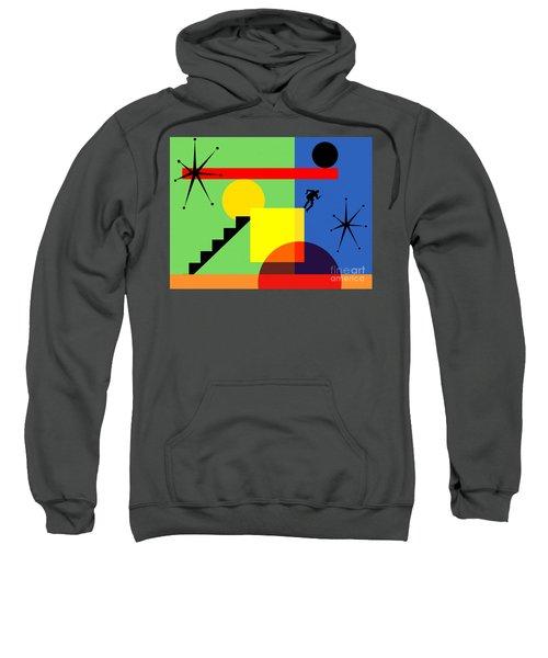 Mid Century Modern Abstract Over The Edge 20190106 Horizontal Sweatshirt