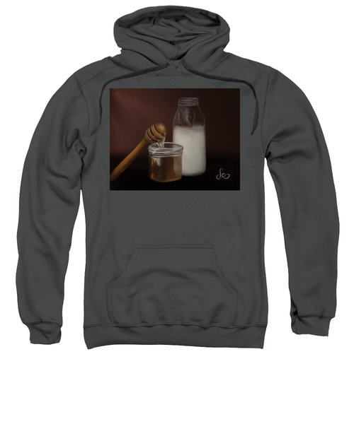 Sweatshirt featuring the painting Milk And Honey  by Fe Jones