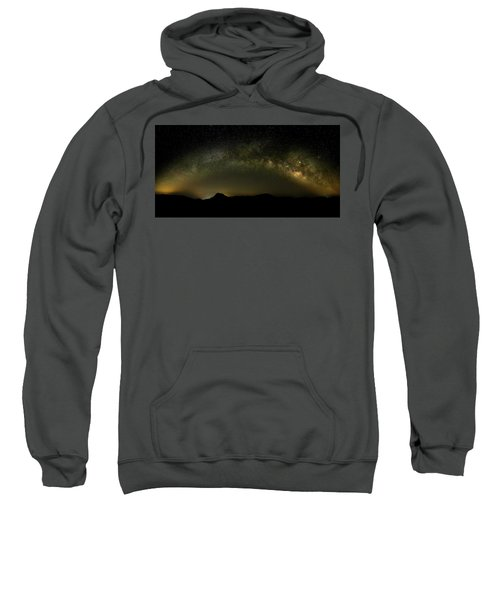 Milky Way Arch Panorama Over Tianping Mountain And Ridge-line Sweatshirt
