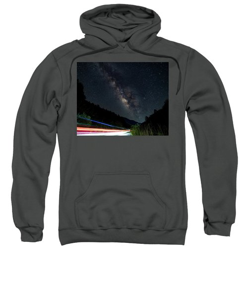 Milky Way Over The South Road Sweatshirt