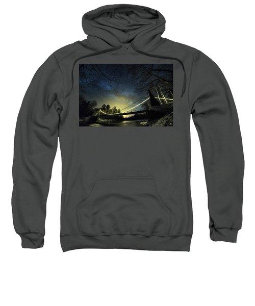 Milky Way Over The Wire Bridge Sweatshirt