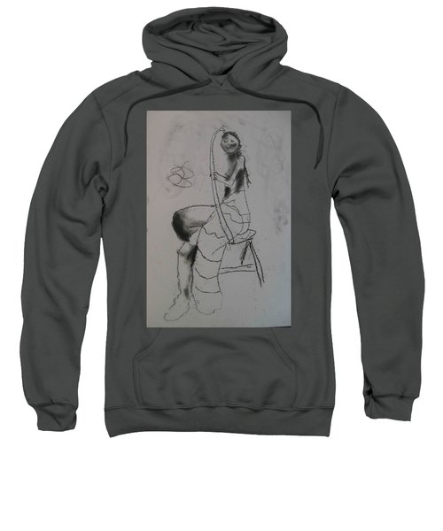 model named Chieh two Sweatshirt