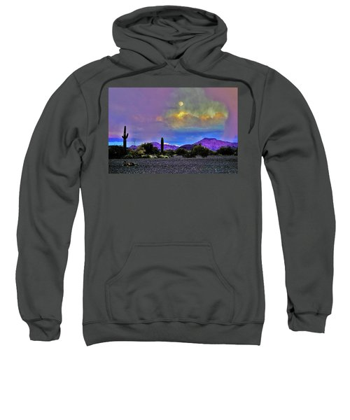 Moon At Sunset In The Desert Sweatshirt
