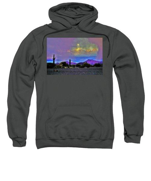 Moon At Sunset In The Desert Sweatshirt