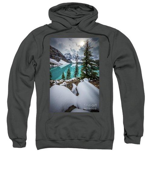 Moraine Lake In Winter Sweatshirt