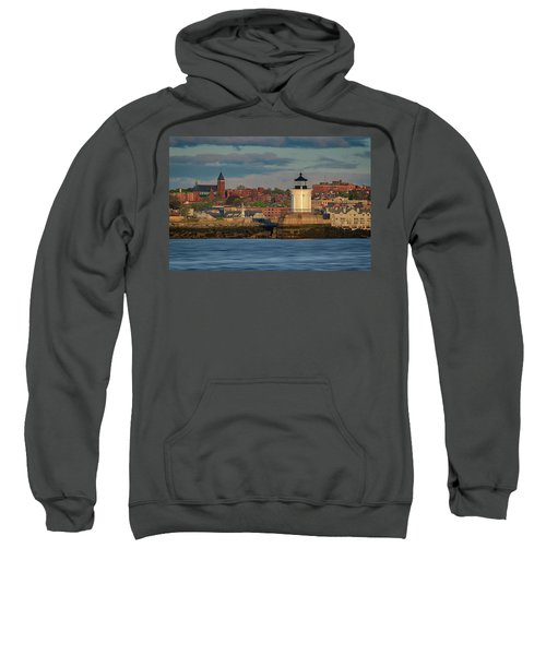 Morning In Portland Harbor Sweatshirt